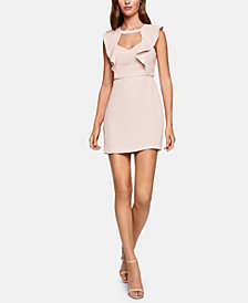 BCBGeneration Cutout Ruffled Mini Dress