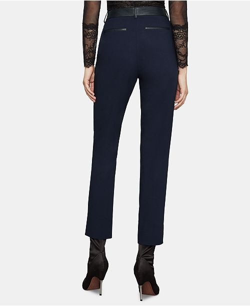 736e5a054134a BCBGMAXAZRIA Faux-Leather-Trim Pants & Reviews ...