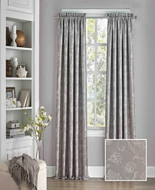 """Mallory Thermalayer Blackout Floral 52"""" x 108"""" Curtain Panel"""