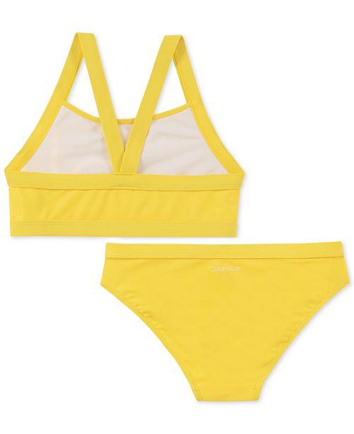 5808f0278e Calvin Klein Big Girls 2-Pc. Bikini Swimsuit & Reviews - Swimwear ...