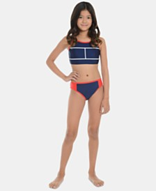 Tommy Hilfiger Big Girls 2-Pc. Elvira Swimsuit