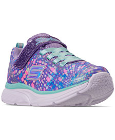 Skechers Little Girls' Wavy Lite Slip-On Running Sneakers from Finish Line