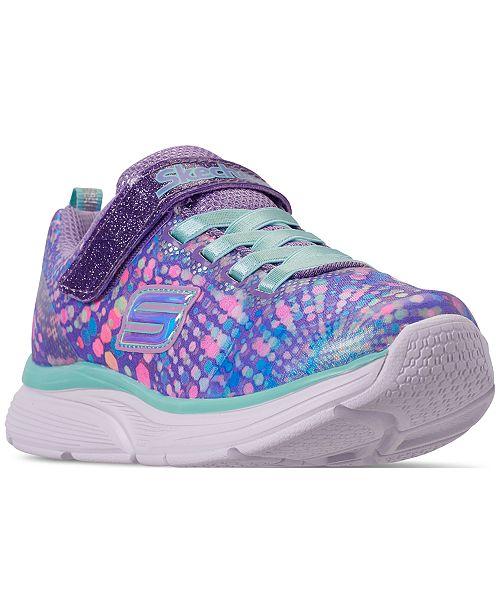 Skechers Little Girls' Wavy Lite Slip On Running Sneakers