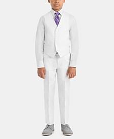 Little & Big Boys Tailored Linen Vest & Pants Separates
