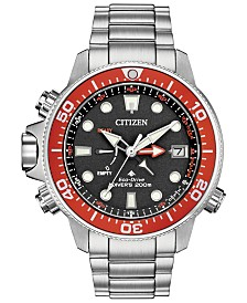 Citizen Eco-Drive Men's Promaster Aqualand Stainless Steel Bracelet Watch 46mm