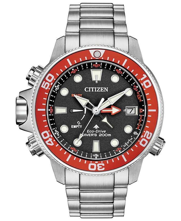 Citizen - Men's Promaster Aqualand Stainless Steel Bracelet Watch 46mm