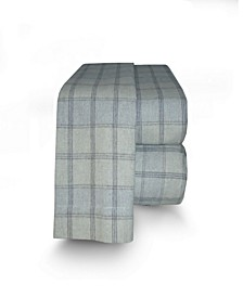 Flannel Plaid Sheet Set Queen
