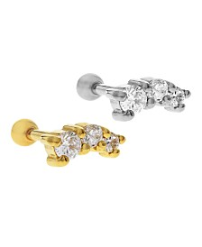 Bodifine Stainless Steel Set of 2 Colors Crystal Tragus