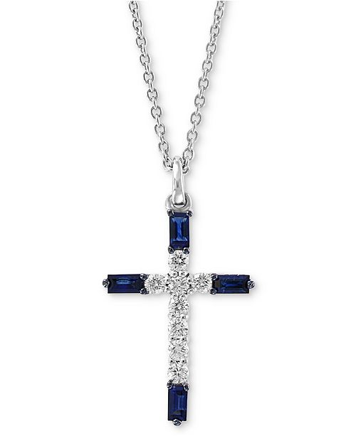 ccfabea664842 EFFY Collection EFFY® Sapphire (1/5 ct. t.w.) & Diamond (1/8 ct ...
