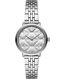 Emporio Armani Women's Stainless Steel Bracelet Smart Watch 32mm