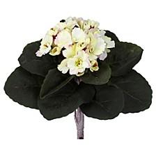 "9"" African Violet Artificial Plant, Set of 6"