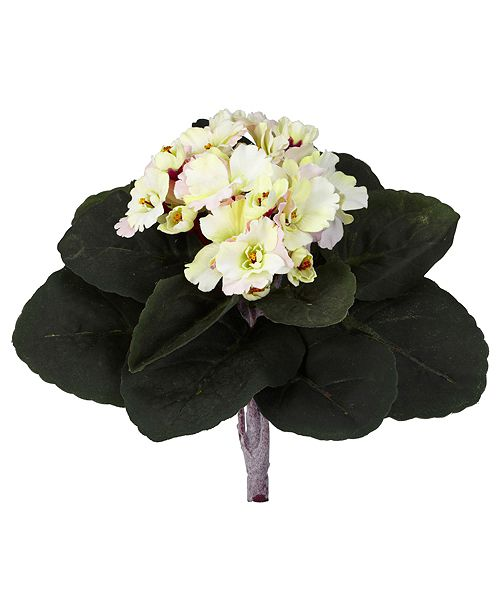 """Nearly Natural 9"""" African Violet Artificial Plant, Set of 6"""