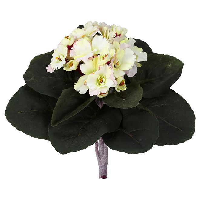 "Nearly Natural 9"" African Violet Artificial Plant, Set of 6"