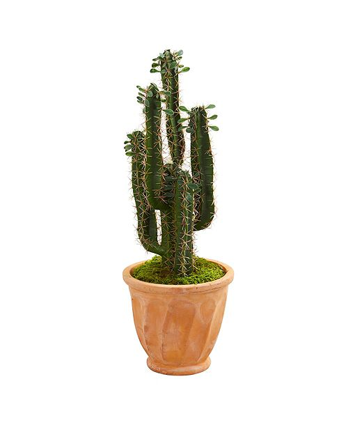 Nearly Natural 3' Cactus Artificial Plant in Terra Cotta Planter