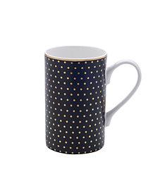 Mikasa Black Gold Dots Mug