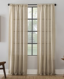 "Modern Check Pattern Anti-Dust Curtain Panel, 52"" x 63"""