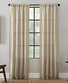 "Clean Window Modern Check Pattern Anti-Dust Curtain Panel, 52"" x 63"""