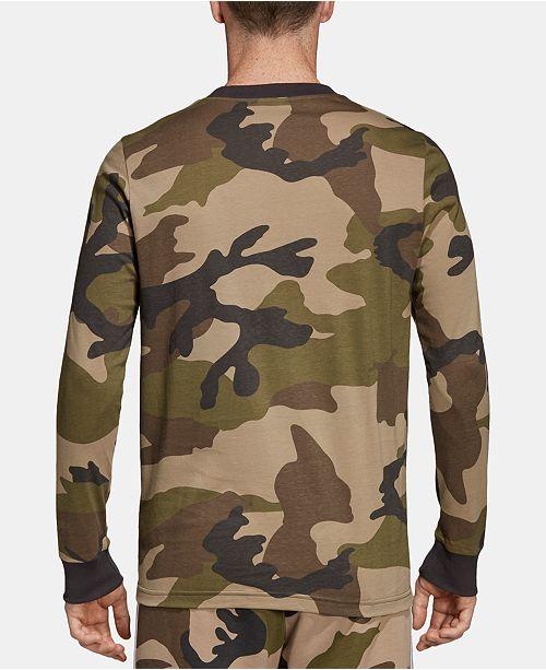 49e2ef03 adidas Men's Originals Camo Long-Sleeve T-Shirt & Reviews - T-Shirts ...