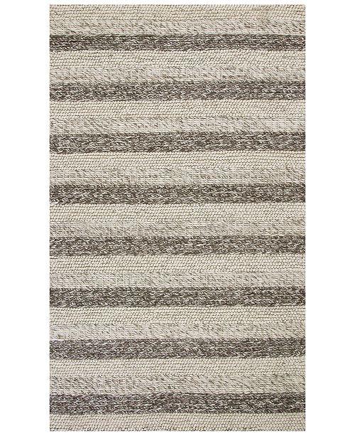 "Kas Cortico Landscape 6158 Grey/White 7'6"" x 9'6"" Area Rug"