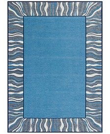 "CLOSEOUT! Retreat Waves 128 Denim 6'7"" x 9'6"" Area Rug"