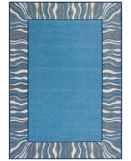 Kas CLOSEOUT! Retreat Waves 128 Denim 5' x 7' Area Rug