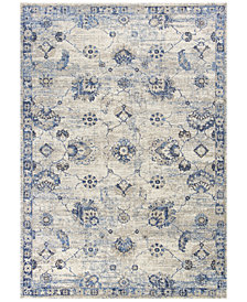 "KAS Seville Sutton 9480 Grey/Blue 3'3"" x 4'11"" Area Rug"