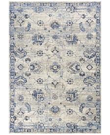 "KAS Seville Sutton 9480 Grey/Blue 7'7"" x 10'10"" Area Rug"