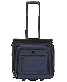 """Traveler's Club 16"""" Stafford Top Expandable USB Port Underseat Carry-On Luggage"""