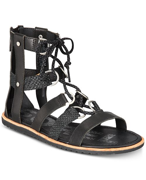 6785ed83a17 Sorel Women s Ella Lace-up Sandals   Reviews - Sandals   Flip Flops ...
