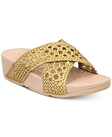 FitFlop Lulu Wicker Slide Sandals
