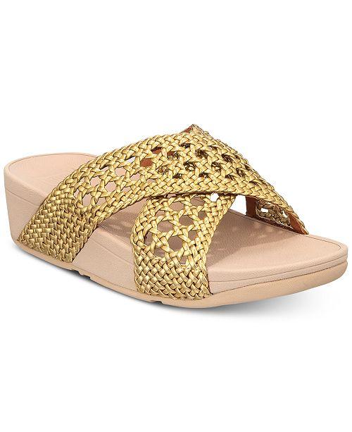 FitFlop Lulu Wicker Slide Sandals