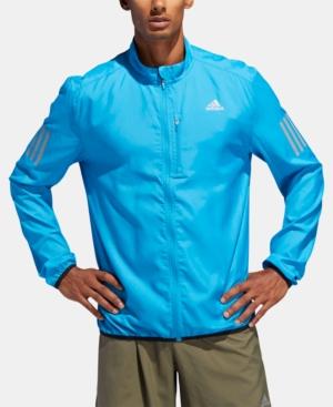Adidas Originals Adidas Men S Water-Repellent Running Jacket In Cyan ... 6061107739bdb