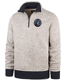 '47 Brand Men's Minnesota Timberwolves Kodiak Quarter-Zip Pullover