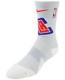 Nike Men's Los Angeles Clippers Elite Team Crew Socks