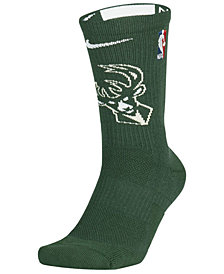 Nike Men's Milwaukee Bucks Elite Team Crew Socks