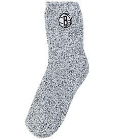 Women's Brooklyn Nets Team Fuzzy Socks