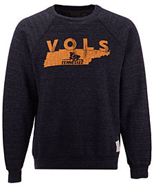 Retro Brand Men's Tennessee Volunteers Triblend Fleece Crew Sweatshirt