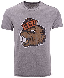 Retro Brand Men's Oregon State Beavers Retro Logo Tri-Blend T-Shirt