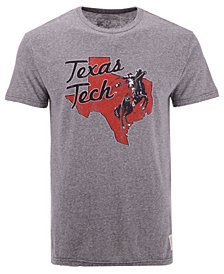 Retro Brand Men's Texas Tech Red Raiders Retro Logo Tri-Blend T-Shirt