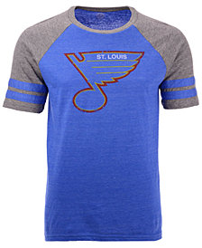 Majestic Men's St. Louis Blues Throwback Short Sleeve Raglan T-Shirt