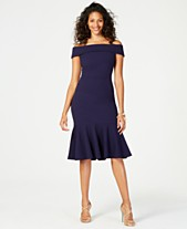 e76d79e58b Vince Camuto Off-The-Shoulder Flounced Crepe Dress