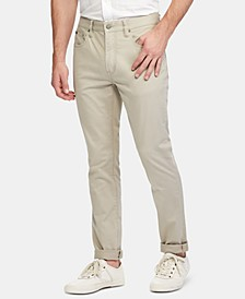 Men's Slim Straight Stretch Sateen Five-Pocket Pants