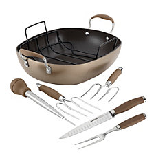 "Anolon Advanced Hard-Anodized 16"" x 13"" Nonstick Roaster Set"