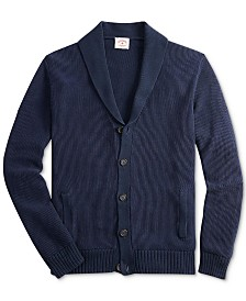 Brooks Brothers Red Fleece Men's Shawl Solid Cardigan