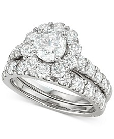 Diamond (3 ct. t.w.) Bridal Set in 18k White Gold
