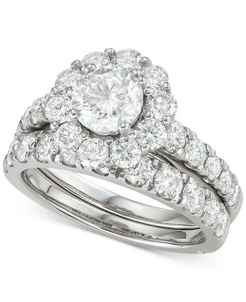 Marchesa Diamond (3 ct. t.w.) Bridal Set in 18k White Gold