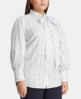 Lauren Ralph Lauren Plus Size Cotton Shirt