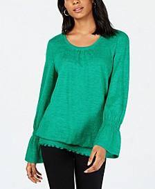 Smocked-Hem Top, Created for Macy's