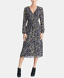 RACHEL Rachel Roy Trendy Plus Size Smocked Midi Dress