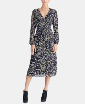 Rachel Rachel Roy  TRENDY PLUS SIZE SMOCKED MIDI DRESS